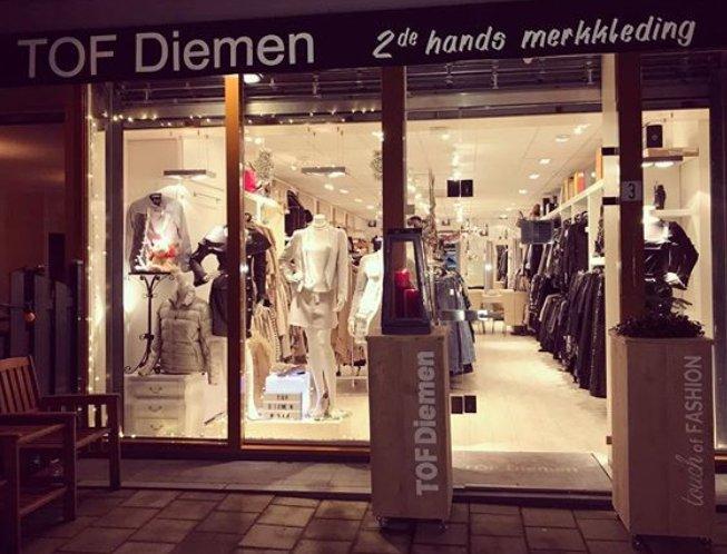 TOF Diemen - jouw winkel in 2e hands designer merkkleding voor dames - Etalage winter 2017